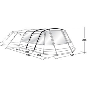 Outwell Concorde 5SATC Toldo frontal